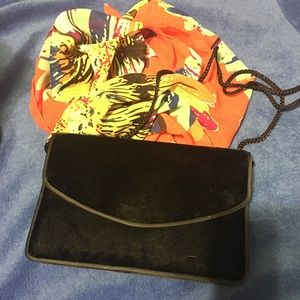 Handbags - Black Velvet Handbag